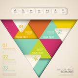 Abstraktes Dreieck infographics Lizenzfreie Stockbilder