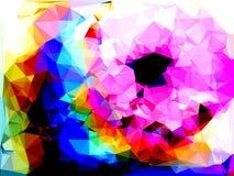 Abstraktes Dreiecke bacground Stockbild