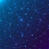 Abstraktes Dreieckgitter auf kosmischem Hintergrund Lizenzfreies Stockfoto