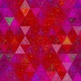 Abstraktes Dreieckmosaikmuster in gehender Grenadine und in den violetten Farben vektor abbildung