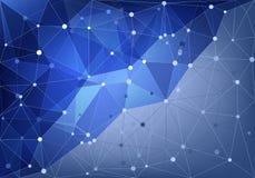Abstraktes Dreiecknetz Stockbilder