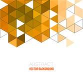 Abstraktes Dreieckplakat Stockfoto