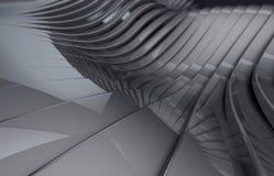 Abstraktes dunkles Chrom metallischer glänzender Hintergrund stock abbildung