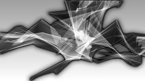 Abstraktes dunkles Metallchrom zeichnet auf dem grauen Hintergrund stock video footage