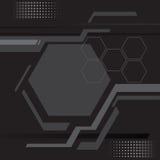 Abstraktes dunkles vect Hintergrund der modernen Technologie der Linie und des Polygons stock abbildung