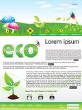 Abstraktes eco gründete siteschablone Lizenzfreie Stockfotos