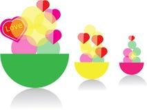 Abstraktes Eiscreme-Symboldesign Stockfotografie