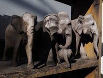 Abstraktes Elefant-Holz stockfotos