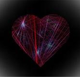 Abstraktes elektronisches Herz lizenzfreie abbildung