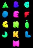 Abstraktes englisches Alphabet des Vektors Komische Art a.m. Lizenzfreie Stockfotos