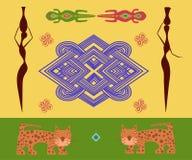 Abstraktes ethnisches Muster Stockbilder