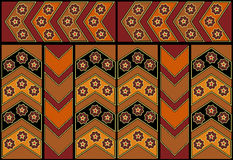 Abstraktes ethnisches Muster mit Sternen Vektor Stockfotos