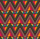Abstraktes ethnisches nahtloses geometrisches Muster Stockfoto