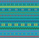 Abstraktes ethnisches nahtloses geometrisches Muster. Lizenzfreies Stockbild