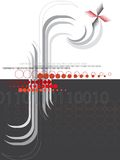 Abstraktes f-rotes Halbtonschwarzes stock abbildung
