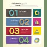 Abstraktes Fahne infographics Stockfoto