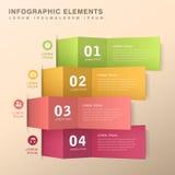 Abstraktes Fahne infographics Stockfotos