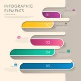 Abstraktes Fahne infographics Lizenzfreie Stockfotos