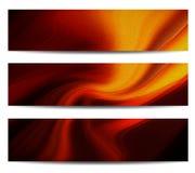Abstraktes Fahnen-Set lizenzfreie abbildung