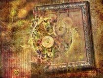 Abstraktes Fantasieweinlesemuster für Hintergrund Stockfoto