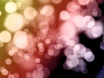 Abstraktes Farbe bokeh Stockfoto