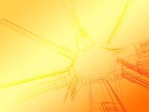 Abstraktes Farbe wireframe Lizenzfreie Stockfotografie