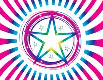 Abstraktes Farbenabbildung-Sternprodukt Stockbild