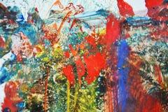 Abstraktes Farbenaquarell mischte Struktur, klaren Hintergrund der Zusammenfassung Stockbilder