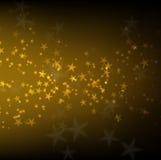 Abstraktes farry Licht auf goldenem Hintergrund Stockfotografie