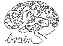 Abstraktes Federzeichnung des Gehirns eins Stockbild