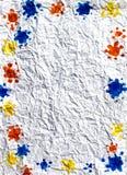Abstraktes Feld auf gefaltetem Papier Stockbilder