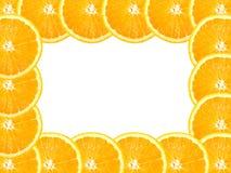 Abstraktes Feld mit Kreuz der Orange Stockfotos