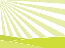 Abstraktes Feld und Sonnenstrahlnhintergrund Lizenzfreie Stockfotografie