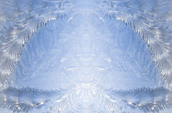 Abstraktes Fenstereis oder symmetrisches Muster des Frosts Lizenzfreies Stockfoto