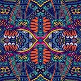 Abstraktes festiveal ethnisches Stammes- Muster Stockbild