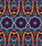 Abstraktes festliches buntes ethnisches Stammes- Muster Lizenzfreies Stockbild