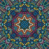 Abstraktes festliches geometrisches Mandalamuster Stockfotografie