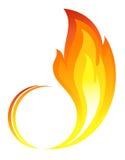 Abstraktes Feuer flammt Ikone Stockfoto