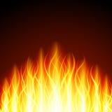 Abstraktes Feuerflammenlicht auf schwarzer Hintergrundillustration lizenzfreies stockfoto