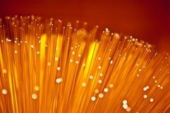Abstraktes fiberoptisches Glühen. lizenzfreie stockbilder