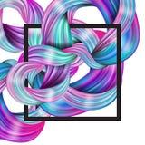 abstraktes flüssiges Design 3d Bunter moderner Hintergrund mit twiste vektor abbildung