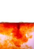 Abstraktes flüssiges Oberflächenmakro mit Luftblasen Lizenzfreie Stockbilder