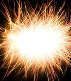 Abstraktes Foto der Feuerwerke Stockfotografie