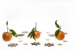 Abstraktes Foto der Weihnachtsmandarinen Stockbilder