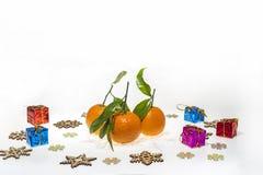 Abstraktes Foto der Weihnachtsmandarinen Lizenzfreies Stockfoto