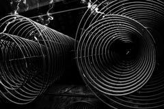 Abstraktes Foto des Weihrauchs in der Schwarzweiss-Farbe Lizenzfreie Stockfotografie