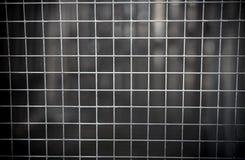 Abstraktes Foto von Eisenstangen vom Gefängnis Stockfotografie