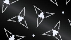 Abstraktes Fractalbild auf dem schwarzen Hintergrund Stockfotos