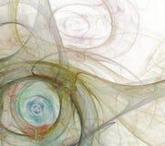 Abstraktes Fractalhintergrundweiß Stockfotografie