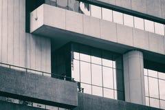 Abstraktes Fragment der modernen Architektur Stockfotografie